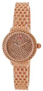Michele New Limited Edition Serein 12 Rose Gold w/Smokey Quartz MWW21E000019