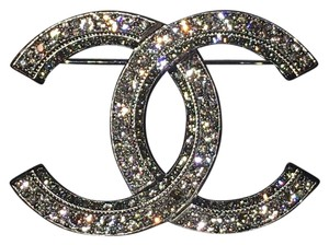 Chanel CHANEL Authentic Crystal CC Brooch