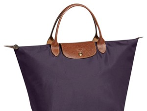 Longchamp Le Pliage Nylon Compact Tote in Bilberry