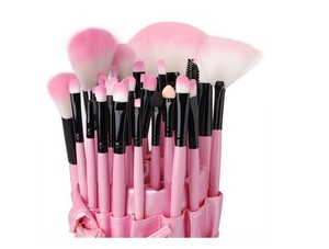 Other Brand New 32 Pcs pink professional make up brush set and carry case