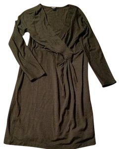 DKNY Donna Karen Wool Brown Size L Work/office Dress
