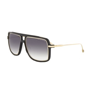 Dita Eyewear NEW Dita Westbound Matte Black 18K Gold Oversized Aviator Sunglasses