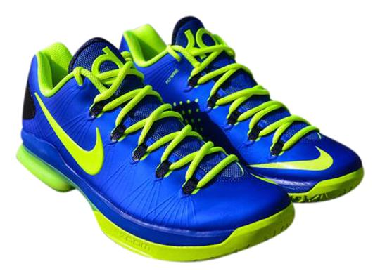 new arrival a0cce d95f2 Nike Men Sneakers Basketball Kd Sneakers Kd V Kevin Durant Blue Athletic  Image 0 ...