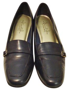 Hush Puppies Size 9 Loafers Leather Navy Blue Flats