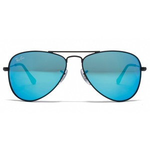 Ray-Ban NEW Ray Ban Aviator Large Metal Blue Mirrored Black Frame