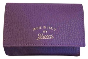 Gucci Leather purple card wallet