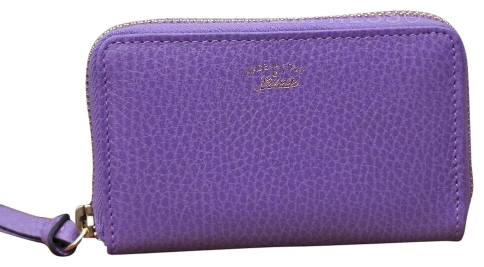 608b8c48a73d Gucci Gucci Purple Wallet Small leather zip around card wallet Image 0 ...