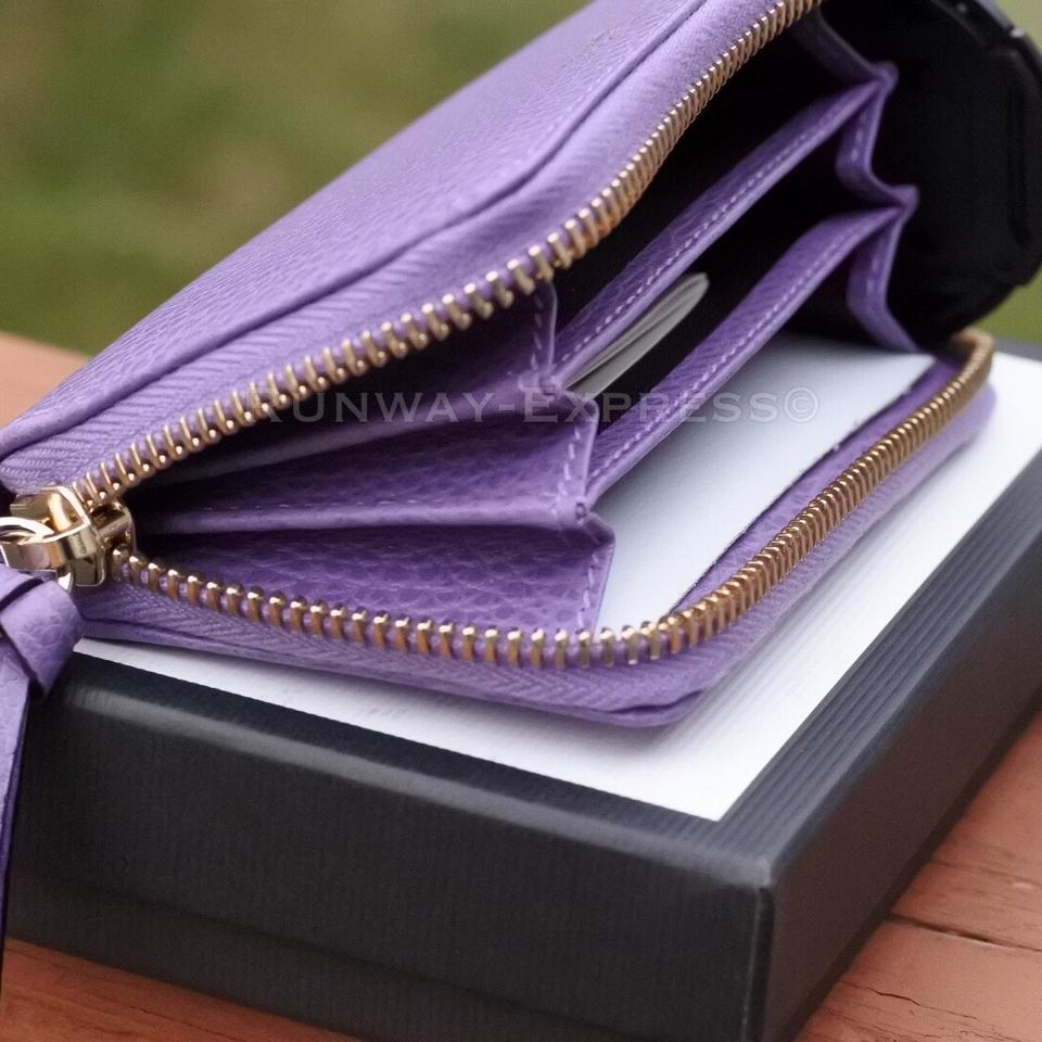 a9ddda7f264c Gucci Gucci Purple Wallet Small leather zip around card wallet Image 8.  123456789