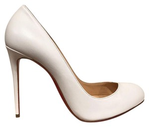 Christian Louboutin Breche Stiletto Leather Wedding white Pumps