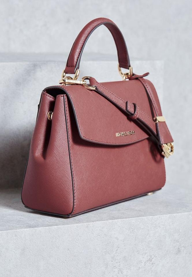 fbd6223a6be56 Michael Kors 30t5gavs2l Ava Small In Brick Red Saffiano Leather Satchel -  Tradesy