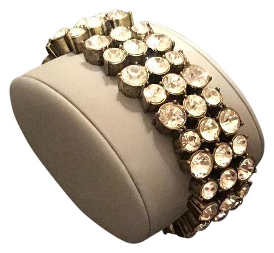 Preload https://img-static.tradesy.com/item/21010976/jcrew-gold-rustic-yellow-tone-round-settings-white-crystals-bracelet-0-1-540-540.jpg