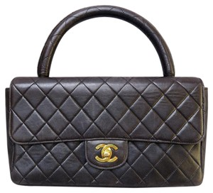 Chanel Lambskin Vintage Tote in black