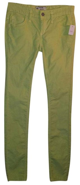 Item - Green Yellow Lime Corduroy Pants New with Tag Skinny Jeans Size 24 (0, XS)