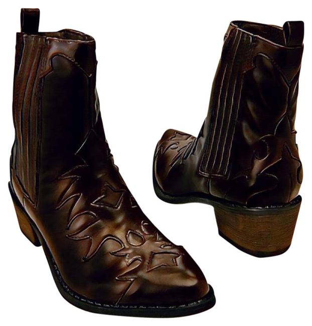 "Item - Chocolate Cherry/Dark Brown ""Cassidy""Western Inspired Boots/Booties Size US 8 Regular (M, B)"