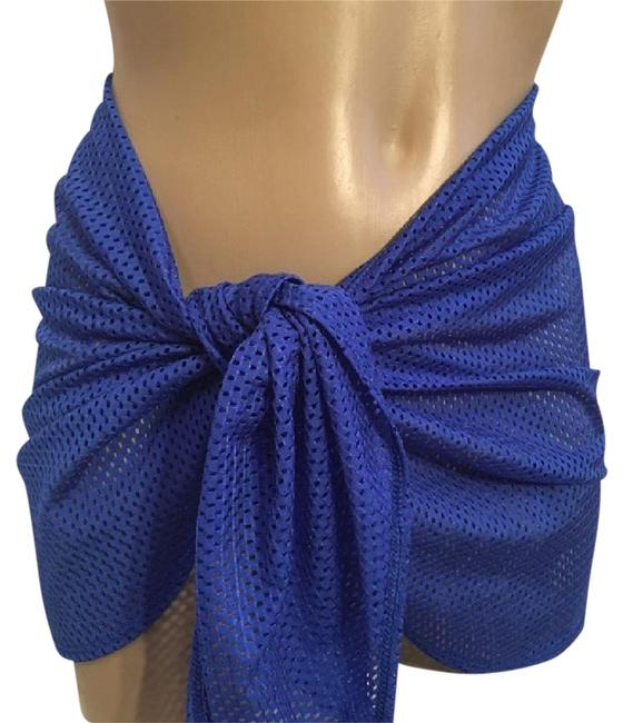Item - Blue Sheer Wrap Skirt Cover-up/Sarong Size 10 (M)