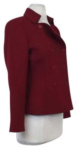 Dana Buchman Red Wool Double Button Jacket