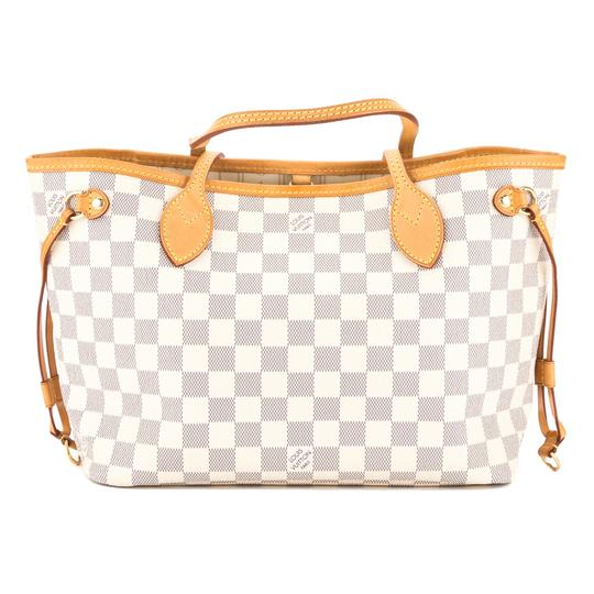 0c0b3045a0a Louis Vuitton Damier Azur Canvas Neverfull Pm Pre Owned White Tote Bag    Totes on Sale