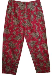 Talbots Capris Red