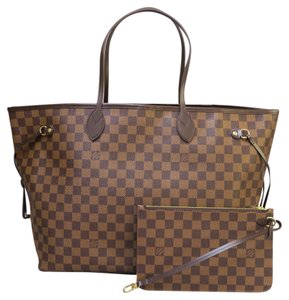 Louis Vuitton Lv Damier Neverfull Canvas Gm Shoulder Bag