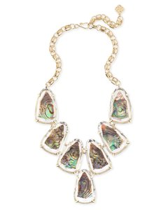 Kendra Scott Kendra Scott Harlow Statement Necklace In Suspended Abalone Shell
