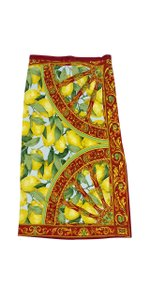 Dolce&Gabbana Multi Color Lemon Print Skirt