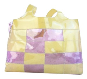Chanel Clear Vinyl Translucent Patchwork Quilted Tote in Multicolor