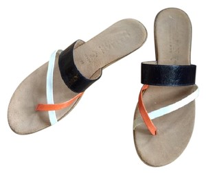 Other - Italian Shoemaker Made In Italy Boho Festival Resort Summer Black, White, Orange Sandals