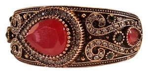 Other Stunning Vintage Style Bohemian Bangle Resin Stones , Antique Gold