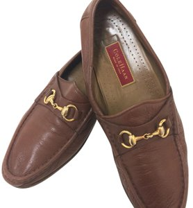 Cole Haan Mens Loafers Bit Loafer Italian British Tan Flats