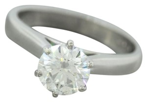 Other Modern Platinum Round Brilliant Diamond Solitaire Engagement Ring