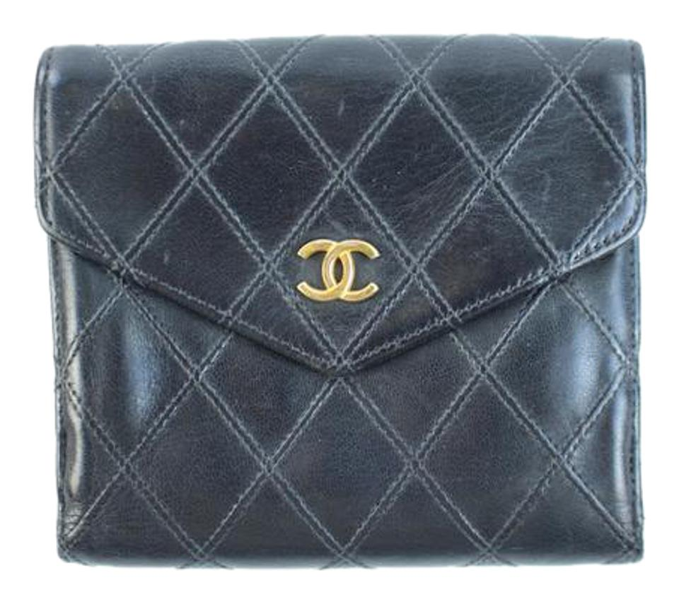eaad0b6cd5d1 Chanel Black Quilted Square 108cca31717 Wallet - Tradesy
