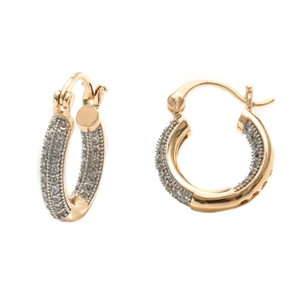 Other 18K Gold Plated Gold and Silver Swarovski Elements Hoop Earrings