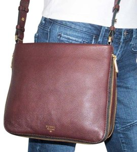 Fossil Expandable Brown Signature Cross Body Bag