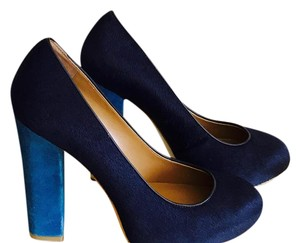 Ann Taylor Navy, Turquoise Pumps