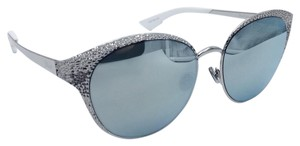9ef1b19549256 Dior Limited Edition Dior Unique 010KP Cat Eye Palladium   White Sunglasses