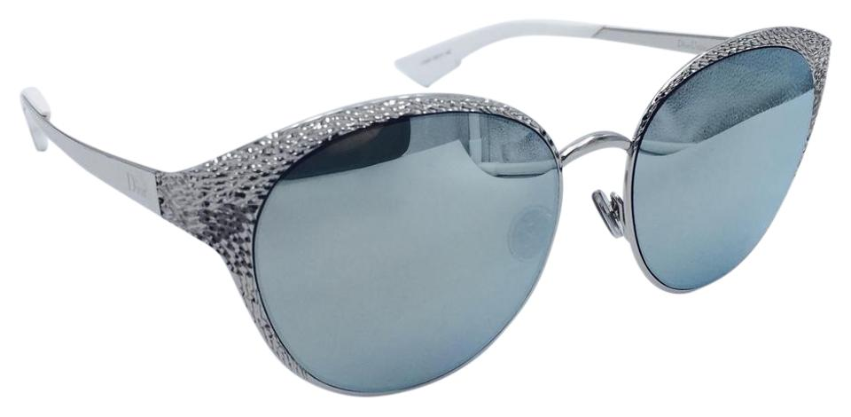 3549d0844d2 Dior Limited Edition Dior Unique 010KP Cat Eye Palladium   White Sunglasses  Image 0 ...