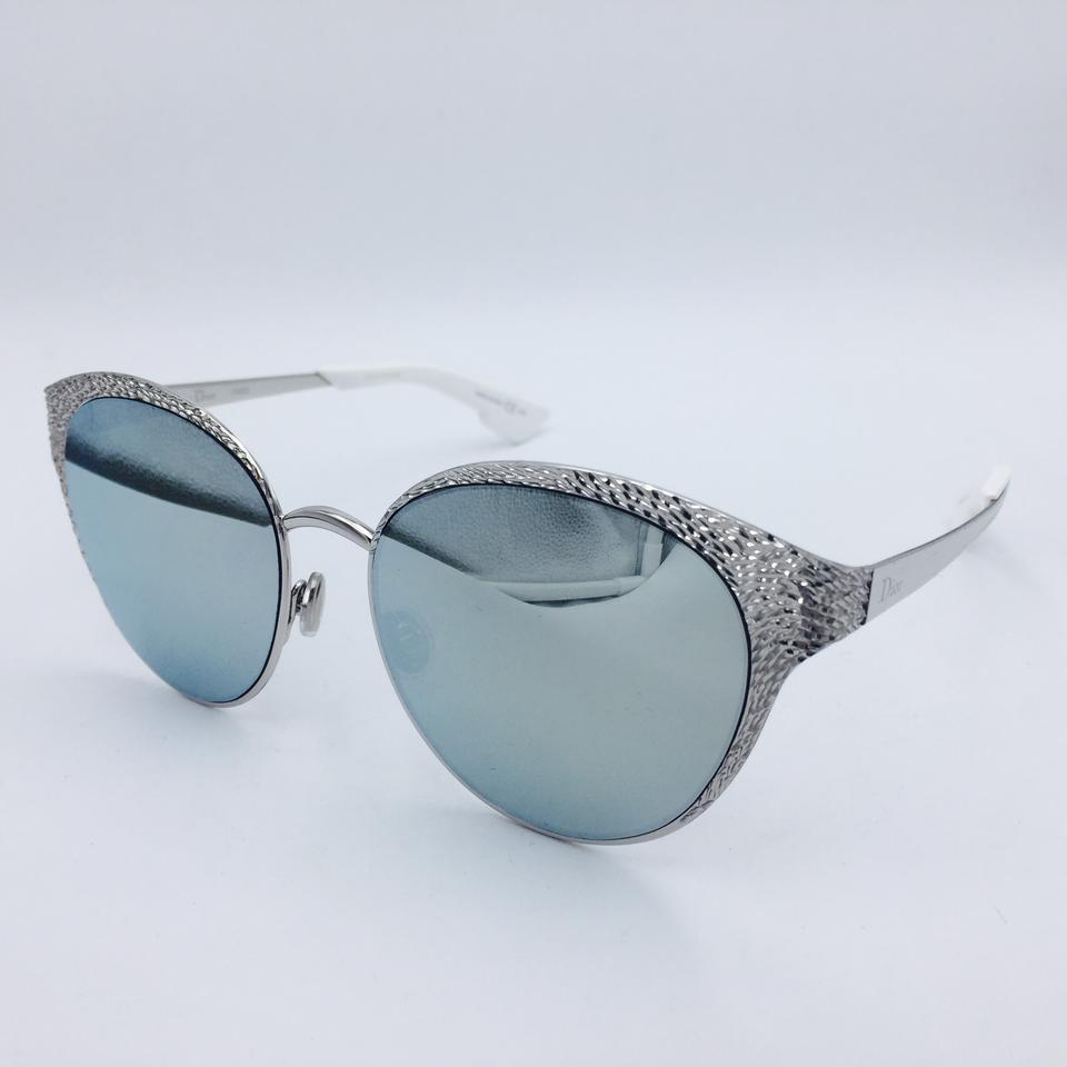 dde4fce7da7 Dior Limited Edition Dior Unique 010KP Cat Eye Palladium   White Sunglasses  Image 7. 12345678