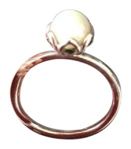 PANDORA Cultured Elegance Stackable Ring, White Pear