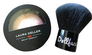 Laura Geller New Laura Gellar Full Sized Baked Blush in Pink Velvet Pop + Dollface