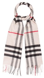 Burberry Beige, black multicolor Burberry Nova Check print cashmere scarf