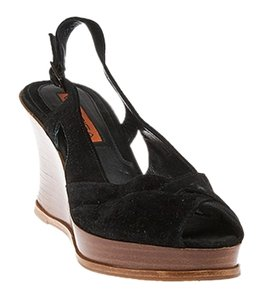 Via Spiga Suede Black Wedges