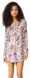 Haute Hippie short dress Printed Neutral on Tradesy