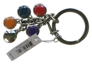 Coach Button multi color keyring