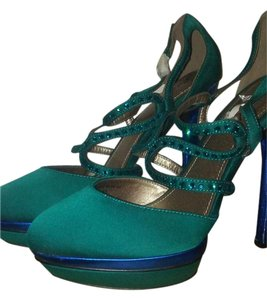 Gomax Disco Diva Teal and Blue Platforms