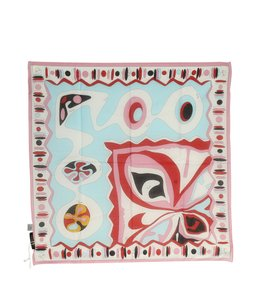 Emilio Pucci Emilio Pucci Multi-Color Geometric Cotton Scarf (118122)