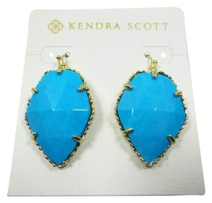 Kendra Scott Stunning Corley in Turquoise & Gold