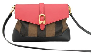 Fendi Mini Pequin Cross Body Striped Shoulder Bag