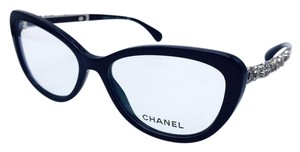 Chanel Chanel Black Blooming Bijou Cat Eye Eyeglasses 3345 54