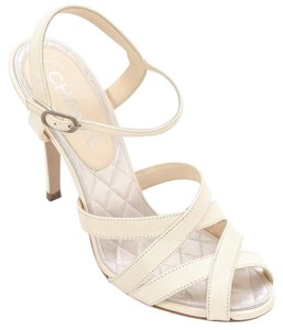 Chanel Ivory Cream Sandals