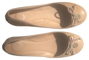 Tory Burch tan Patton leather Flats